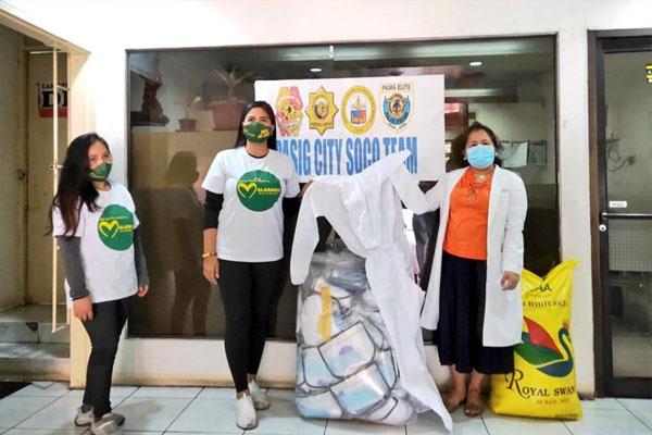Malasakit Movement donates PPEs and sack of rice to Pasig-SOCO / Photo Courtesy of Manila Bulletin