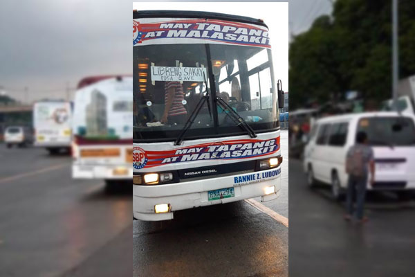 libreng sakay buses in commonwealth
