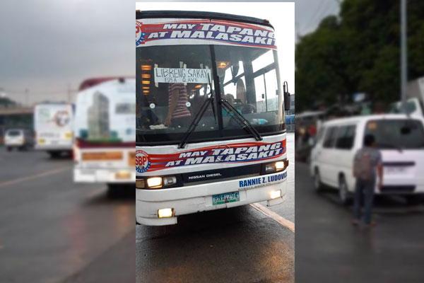libreng sakay buses in commonwealth