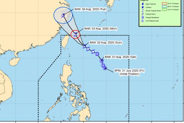 Track of Tropical Storm Dindo / PAGASA