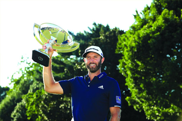 Dustin Johnson looks forward to an exciting season after claiming his second Saudi International championship. SAM GREENWOOD/AGENCE FRANCE-PRESSE
