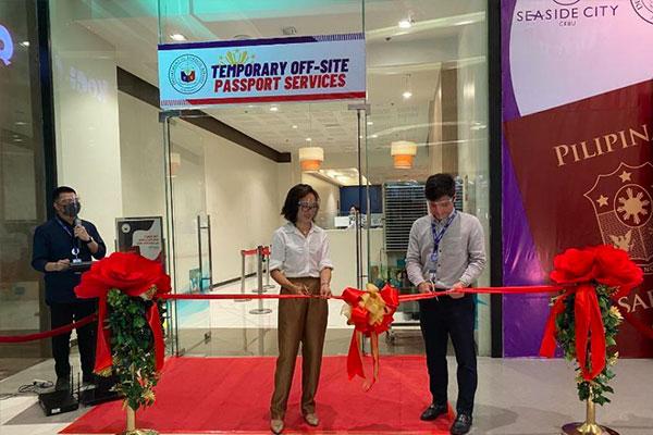 A temporary off-site passport services facility at SM Seaside in Cebu City. (Photo courtesy of DFA)
