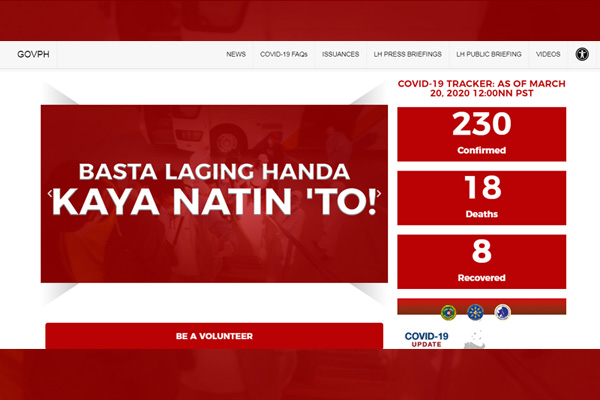 PCOO's Covid-19 virtual portal www.covid19.gov.ph