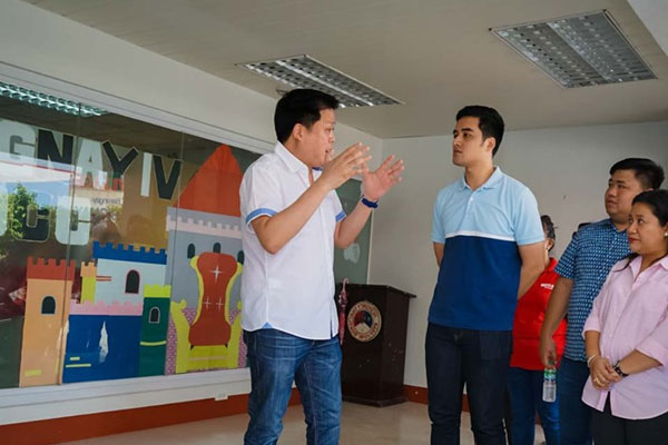 Valenzuela City Mayor Rex Gatchalian with Pasig City Mayor Vico Sotto / Valenzuela PIO