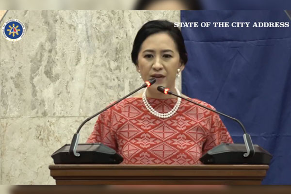 Quezon City Mayor Joy Belmonte State of the City Address live screen capture / Facebook / MayorJoyBelmonte