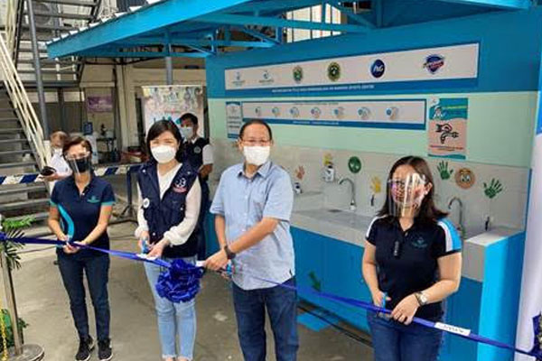 In partnership with P&G, Safeguard Philippines and Department of Health, two handwashing facilities were turned over to the Marikina City Government on October 29 under Manila Water Foundation%u2019s WASH in Pandemic program.
