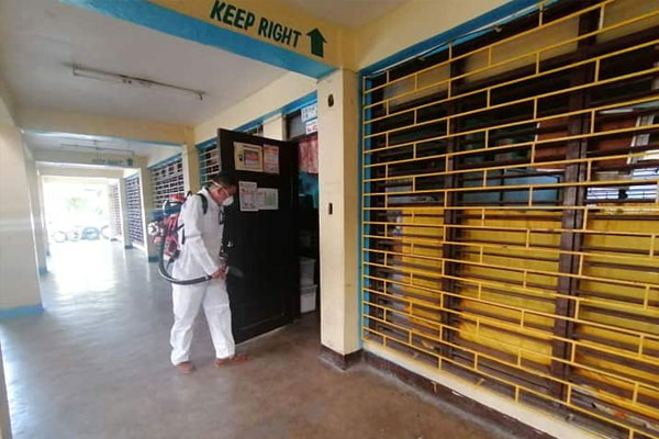 Roll-out of cleaning and disinfection of public schools in Muntinlupa City as preventive measure amid COVID-19 threat.