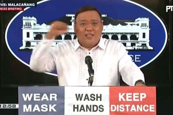 Presidential Spokesperson Harry Roque / Screengrab from PTV