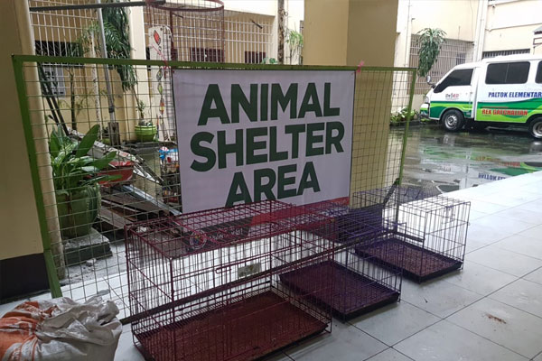 Animal Shelter Areas in evacuation centers