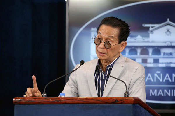 Chief Presidential Legal Counsel Salvador Panelo / PCOO