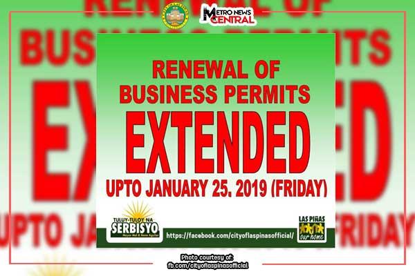 #MNCAnnouncement: Las Pi%uFFFDas biz renewal extended