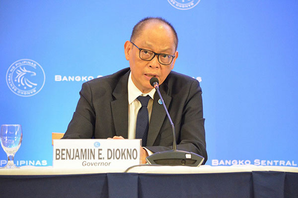 BSP Governor Benjamin Diokno