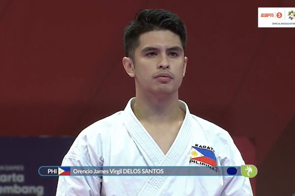 Filipino karateka James De los Santos / OneSportsPHL