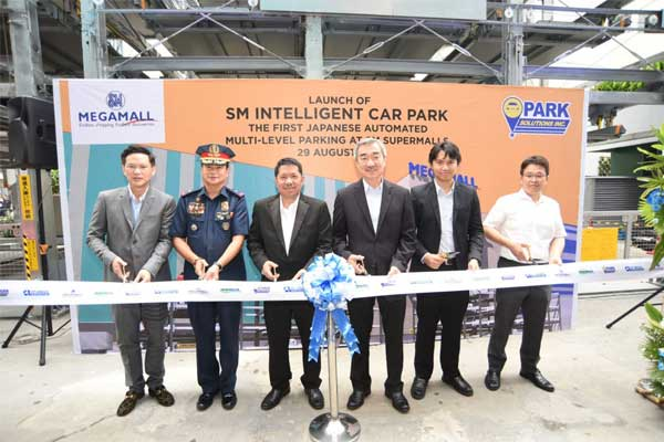 Ribbon cutting of First automated car park in SM Megamall