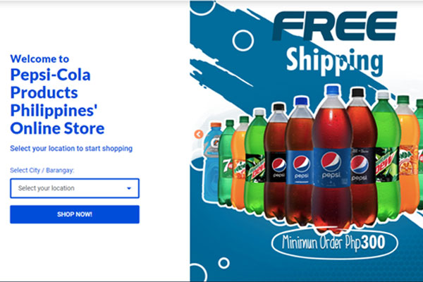 Screen grab from Pepsi Website
