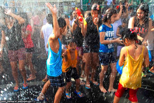 Children celebrating wattah wattah 2019