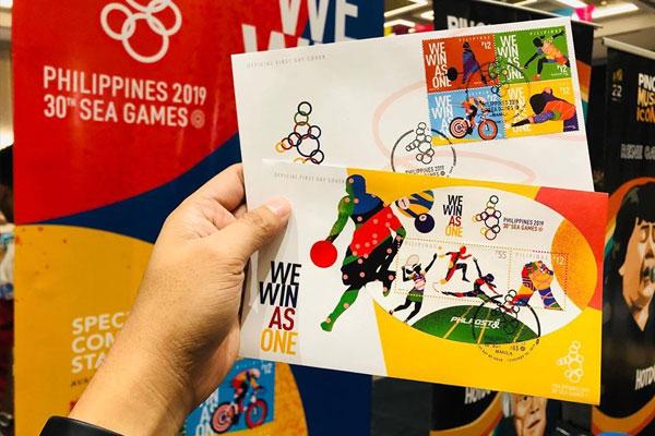SEA Games 2019 special stamps, souvenir sheets / Photos courtesy of PHLPOST