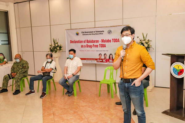 Balubaran-Mabolo TODA (BALMATODA) is awarded last November 20 at the Valenzuela City Town Hall as the Second Drug-Free TODA in the Valenzuela City -- empowering cooperation among transportation groups to join forces with the local government%u2019s fight against illegal drugs.
