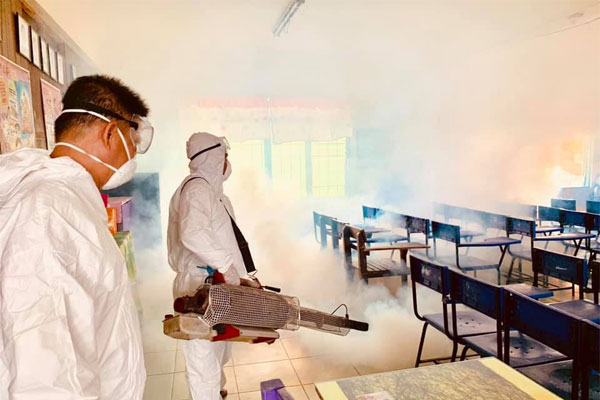 Fogging in Lerma Elementary School / Caloocan PIO