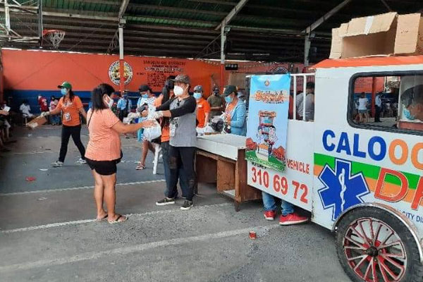 Drug store on wheels the latest offering by the Caloocan City Government to minimize the impacts of the enhanced community quarantine to residents. / Photo Courtesy Caloocan PIO