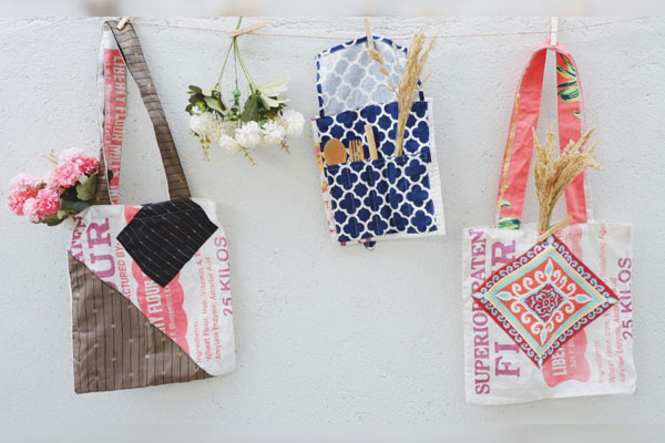 Get your fill of eco-conscious products from sustainable brands at the First Virtual Metro Community Bazaar. Likha Lokal creates uniquely-designed bags and multi-purpose organizers from flour bags and scrap materials.