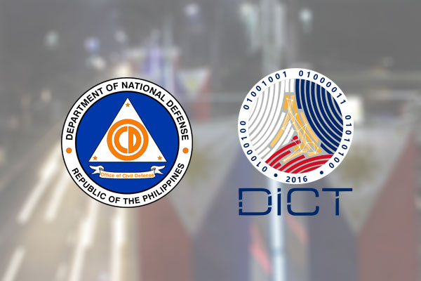Office of Civil Defense (OCD) and the Department of Information and Communications Technology (DICT)
