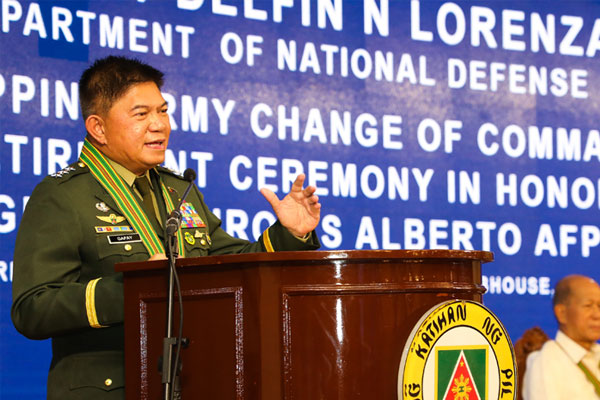 AFP chief-of-staff, Lt. Gen. Gilbert Gapay / AFP PIO