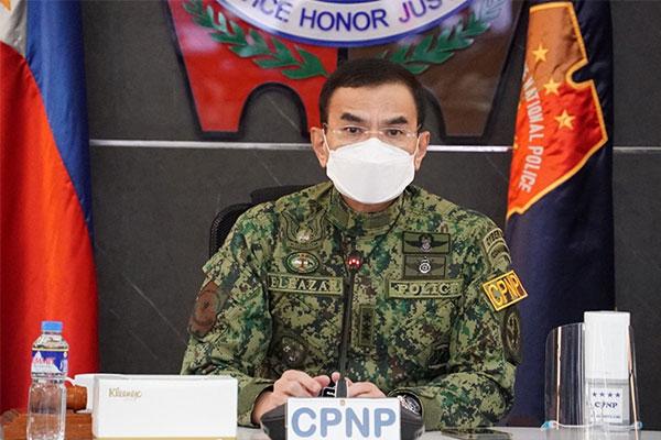 PNP chief, Gen. Guillermo Eleazar