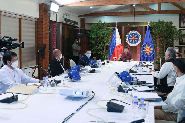 President Rodrigo Roa Duterte holds a meeting with members of the Inter-Agency Task Force on the Emerging Infectious Diseases (IATF-EID) / PCOO