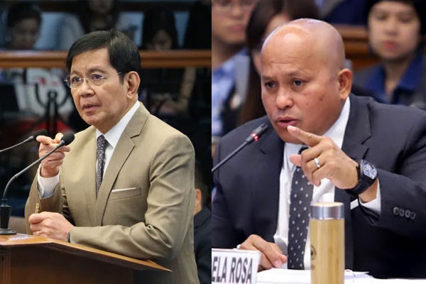 Senator Panfilo Lacson and Senator Ronald Dela Rosa
