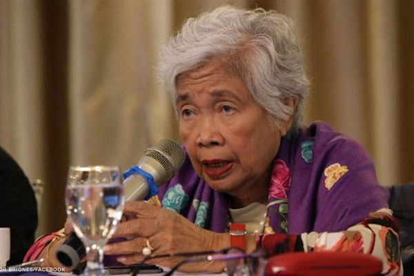 `Education Secretary Leonor Briones