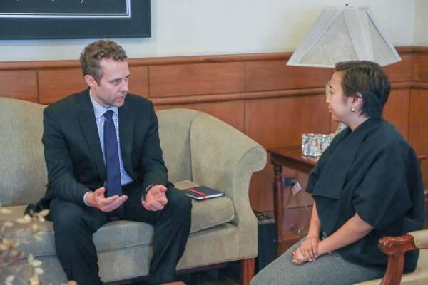 Makati Mayor Abby Binay meets with David Nufrio / Makati PIO