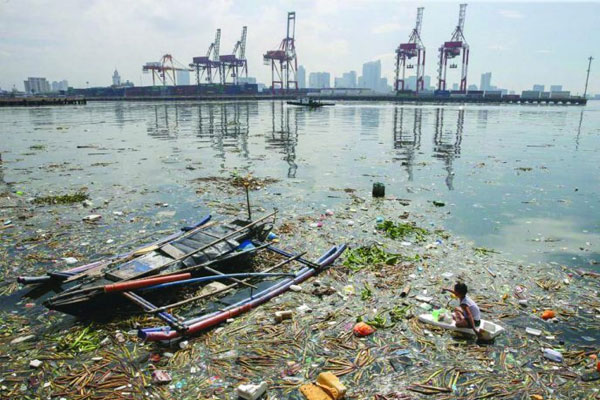 manila bay pollution due to wrong waste management