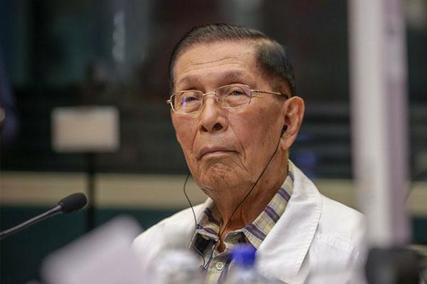 Former Senator Juan Ponce Enrile / ABS-CBN News