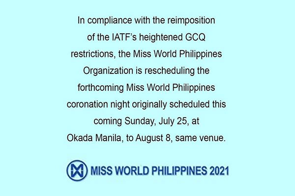 Photo Courtesy of Miss World Philippines Facebook Page