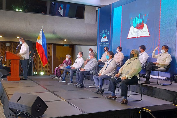 Human Development and Poverty Reduction Cluster Pre-SONA forum at the Philippine International Convention Center on July 14, 2021 (Photo courtesy of PICC)