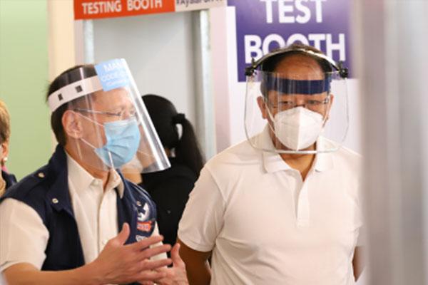 Vaccine czar Secretary Carlito Galvez Jr. and Health Secretary Francisco Duque III