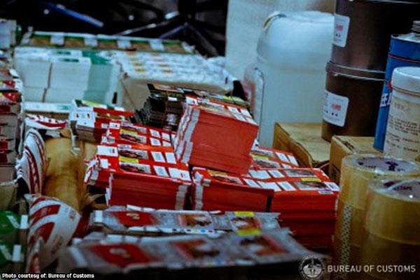 Fake cigarettes in Valenzuela / Bureau of Customs