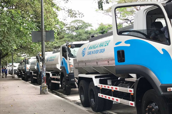 Manila water tankers sent to evacuees affected by the eruption of Taal Volcano / Manila Water