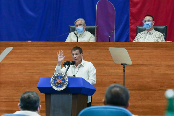 President Rodrigo Roa Duterte delivers his 5th State of the Nation Address at the House of Representatives Complex in Quezon City on July 27, 2020 / PCOO