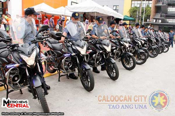 Caloocan police boosted up