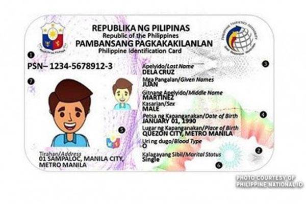 Photo Courtesy of Philippine National ID