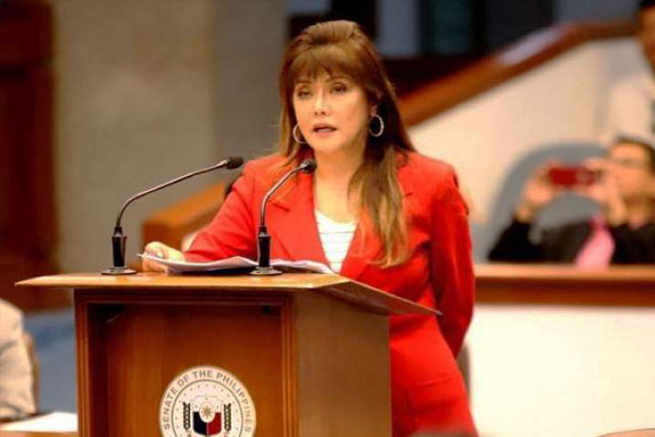 Senate Committee on Economic Affairs chairperson Imee Marcos
