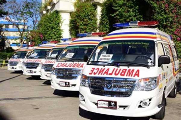 Give way to ambulances and emergency vehicles