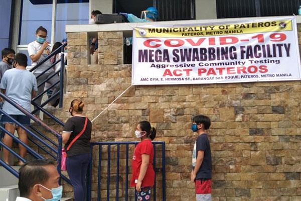 Mega swabbing center in Pateros / IsangPateros Facebook page
