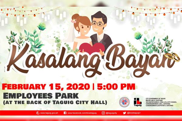 Taguig City Kasalang Bayan February 15, 2020 / Taguig PIO