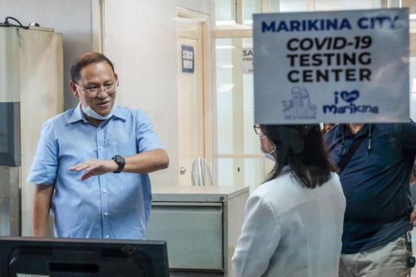 Marikina Mayor Marcelino Teodoro