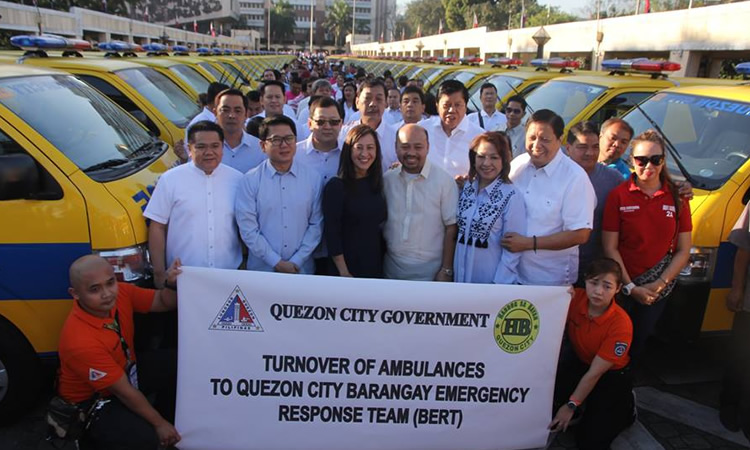 Qc Boosts Emergency Response Services In 142 Barangays