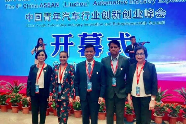 Muntinlupa Mayor Jaime Fresnedi (center) led the city delegation attending the 9 th China-ASEAN Automotive Industry Exposition / Muntinlupa PIO
