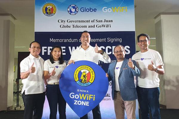 Globe Telecom Partners with San Juan LGU to Provide Free WiFi